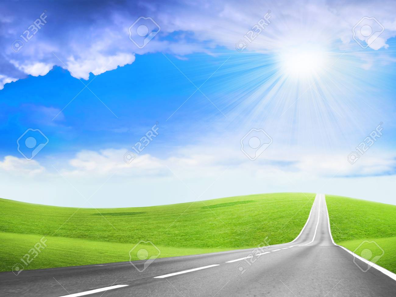 abstract scene of the road under blue sky Stock Photo - 4456433