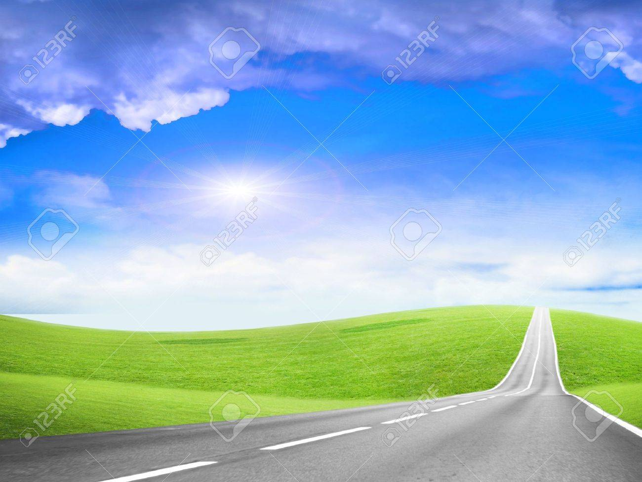 abstract scene of the road under blue sky Stock Photo - 4456494