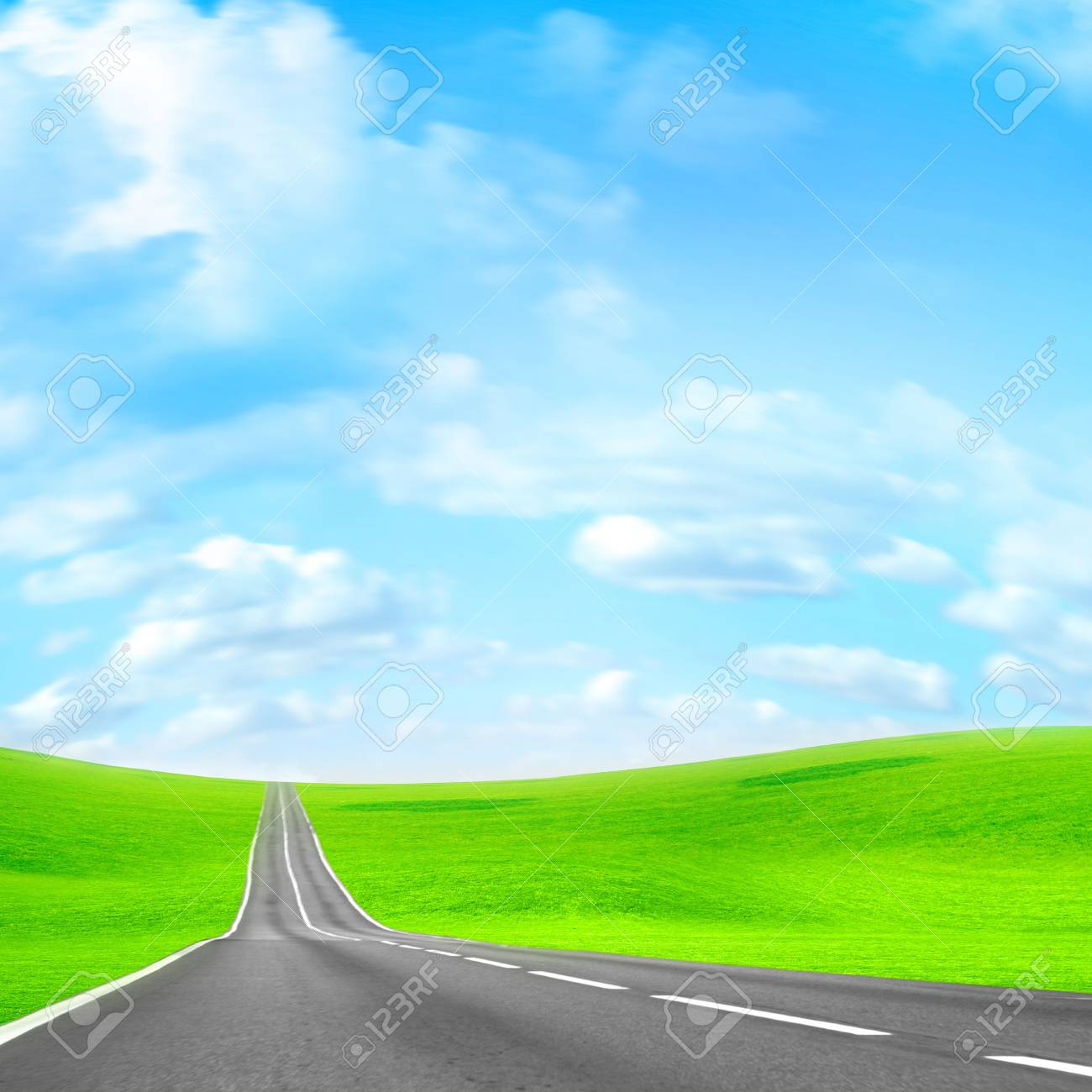abstract scene of the road under blue sky Stock Photo - 4456492