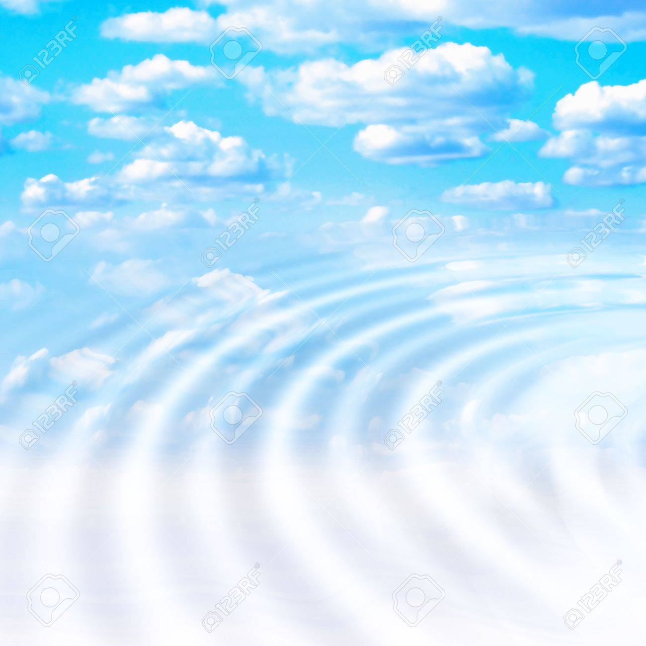 abstract reflection blue sky in water surface Stock Photo - 4516326