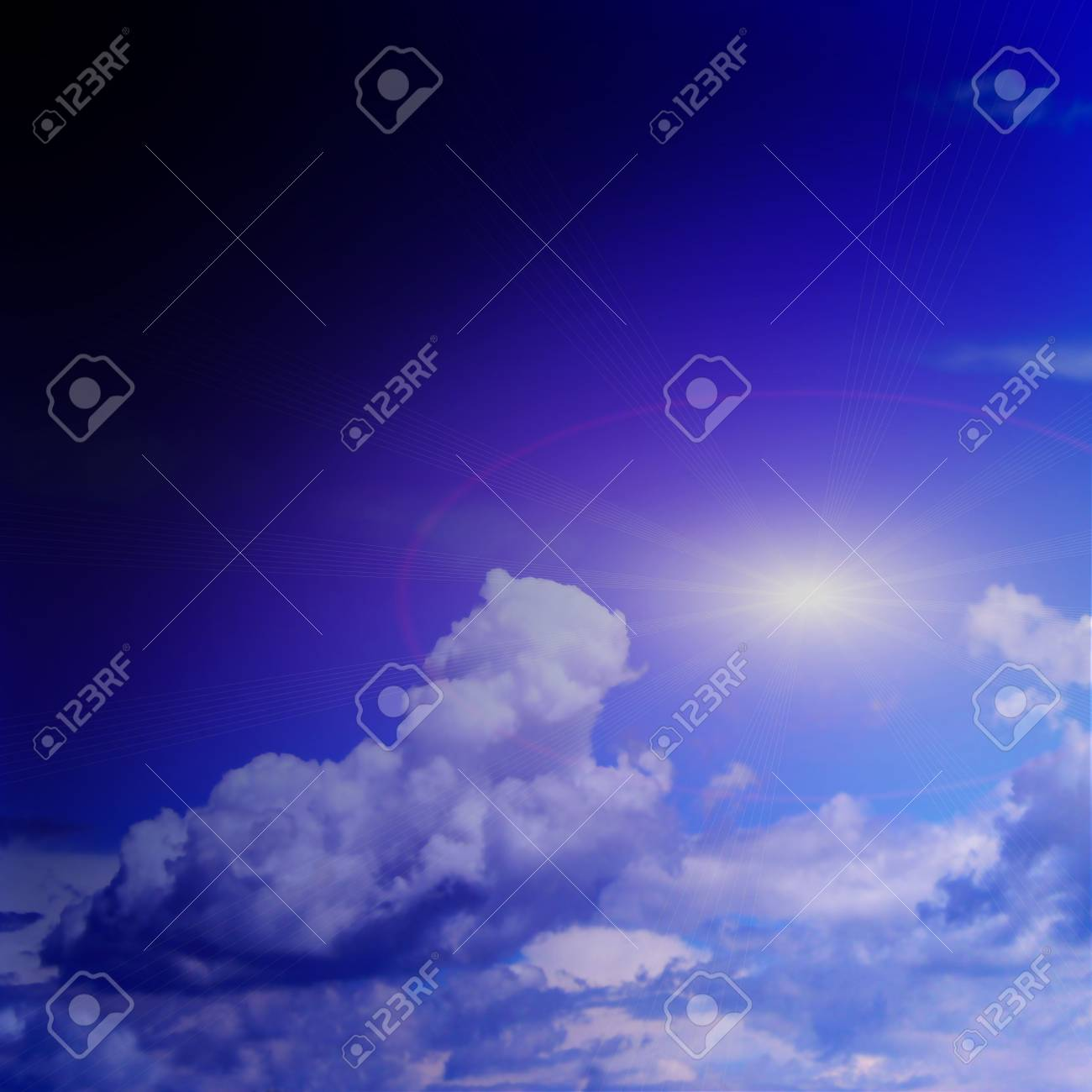 abstract reflection blue sky in water surface Stock Photo - 4516327
