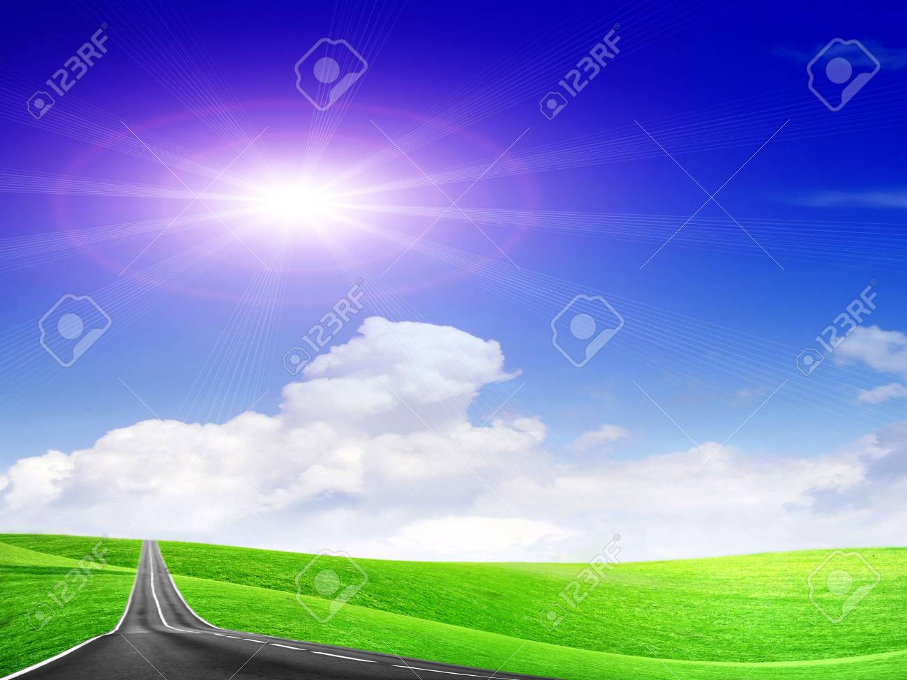 abstract route under blue sky Stock Photo - 4516505