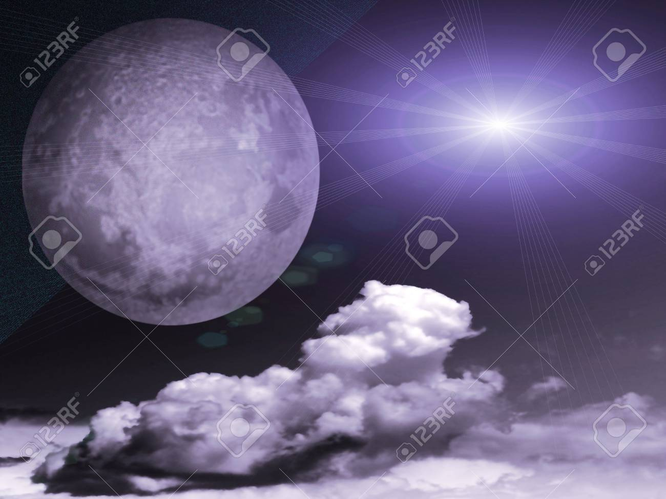 abstract celestial landscape Stock Photo - 4670234