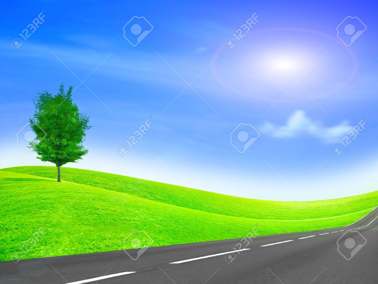 abstract scene car road on background year sky Stock Photo - 6592806