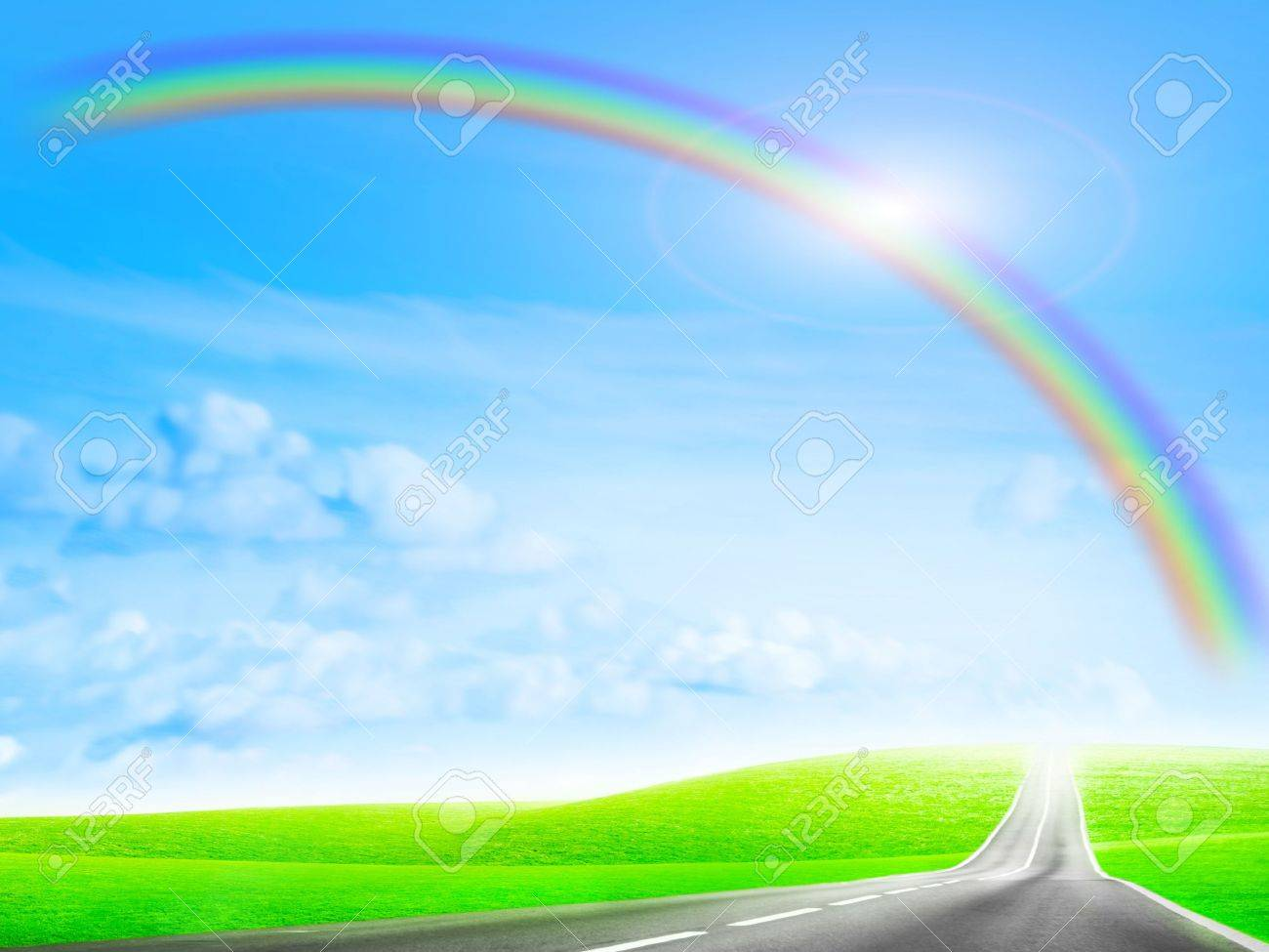 abstract scene car road on background year sky Stock Photo - 6592804