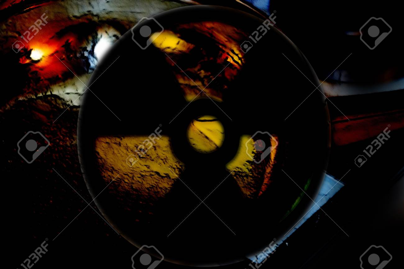 abstract scene as background radiation danger Stock Photo - 8582126