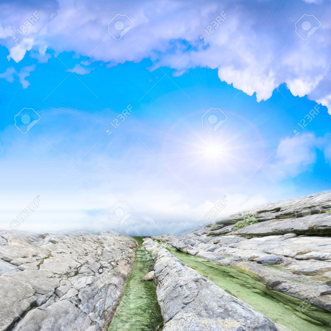 abstract scene with mountain stream as travel background Stock Photo - 9492585