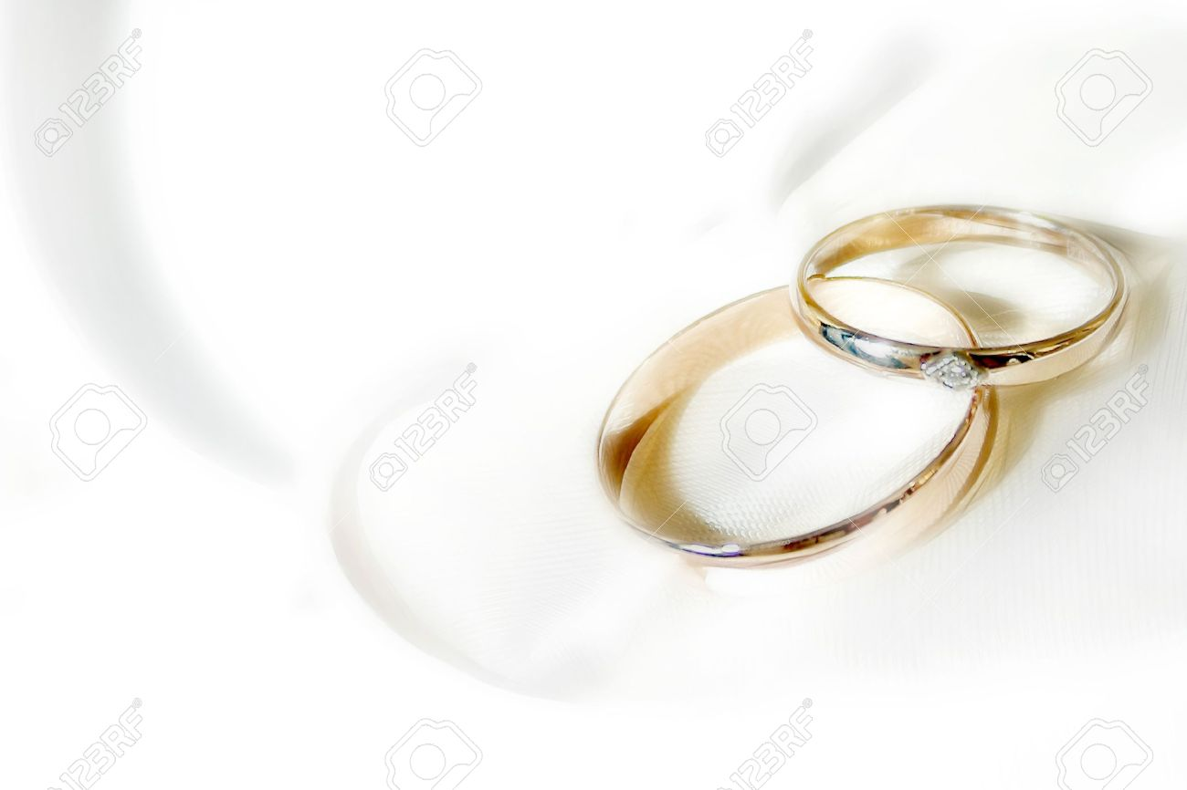 Abstract Scene With Wedding Rings As Celebration Background Stock