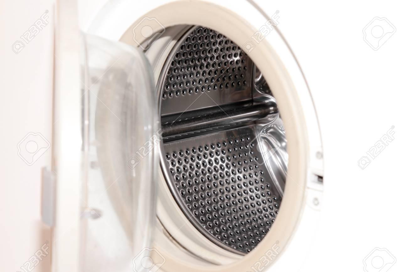 scene openning door washing machine Stock Photo - 11730665