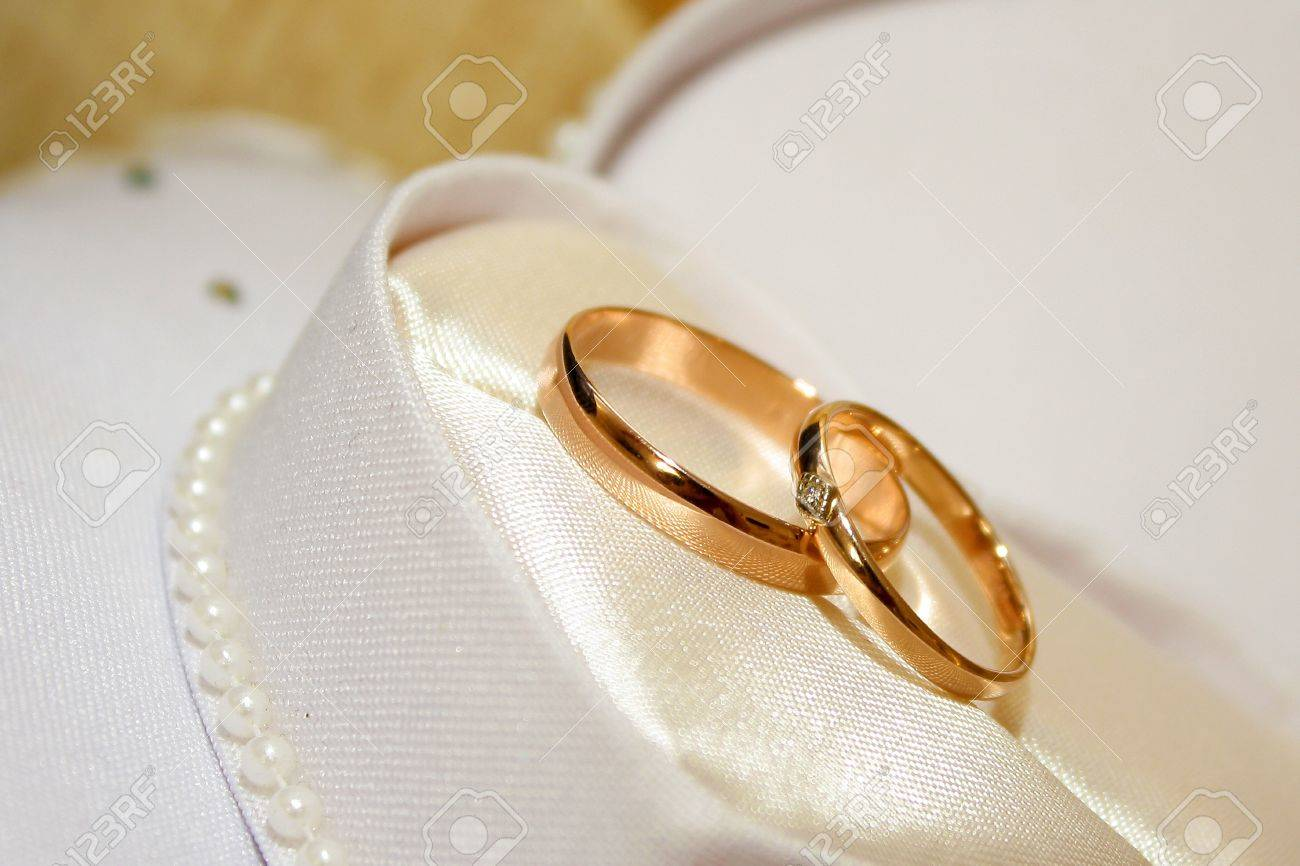 two rings as symbol holiday wedding ceremony Stock Photo - 13573111