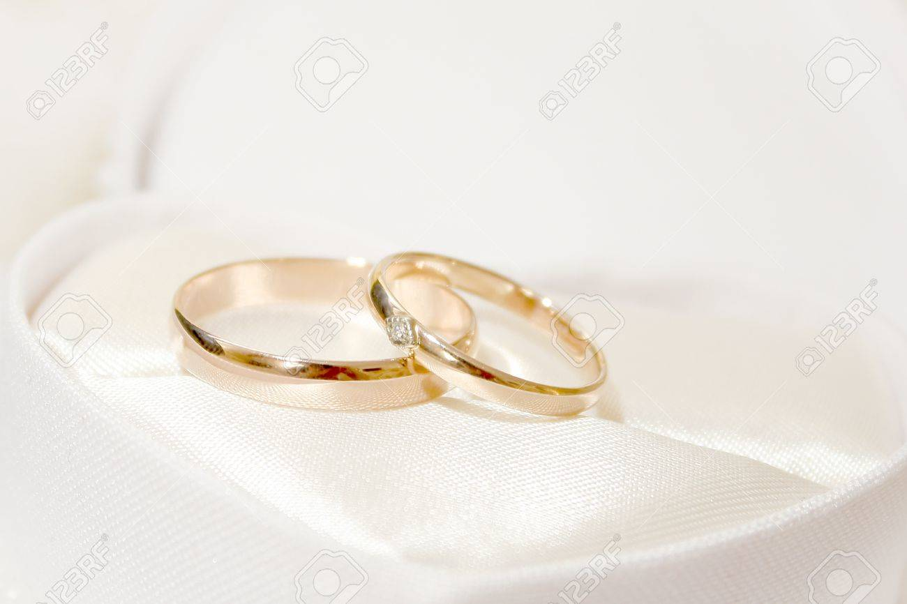 scene two rings as symbol holiday wedding ceremony Stock Photo - 13563652