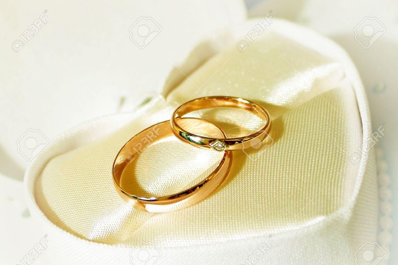Wedding ceremony rings symbol
