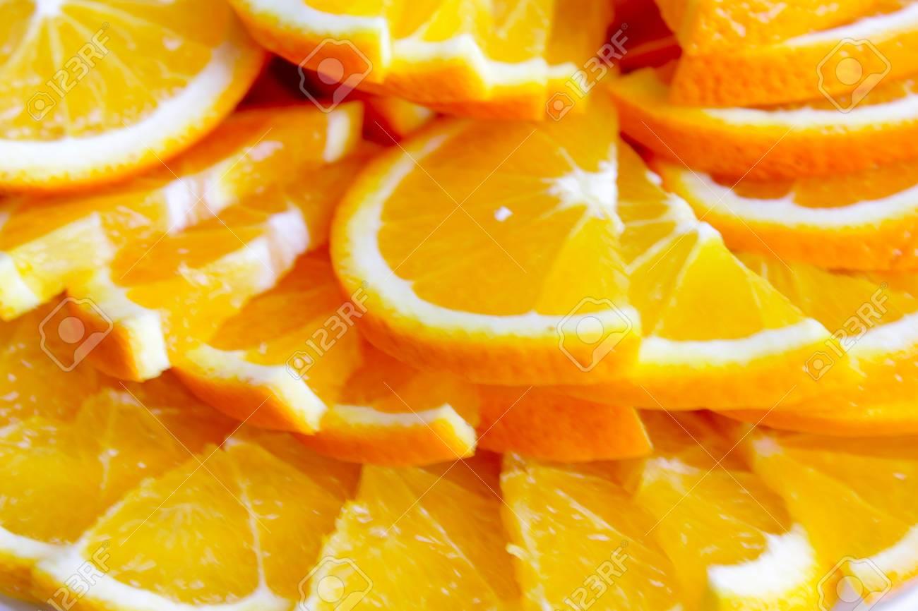 abstract scene with segment fresh orange Stock Photo - 15622176