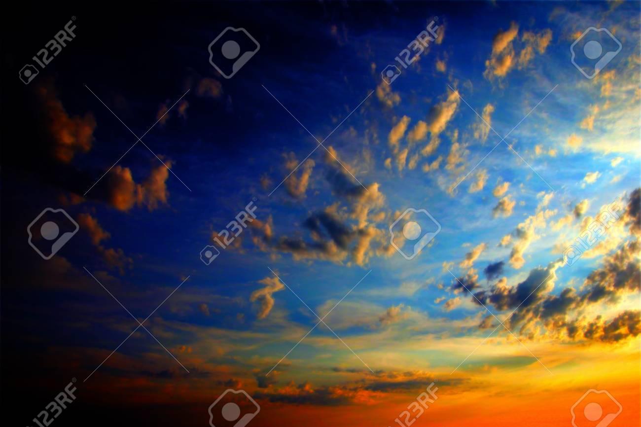 clouds on the dark sky as beautiful celestial landscape Stock Photo - 16241322