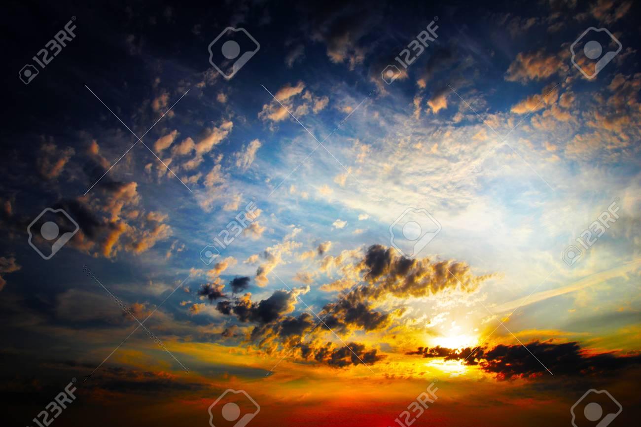 clouds on the dark sky as beautiful celestial landscape Stock Photo - 16241323