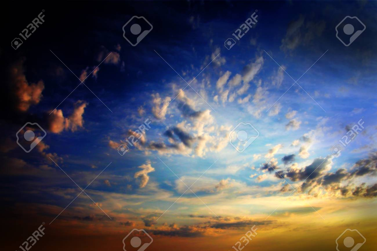 clouds on the dark sky as beautiful celestial landscape Stock Photo - 16234044