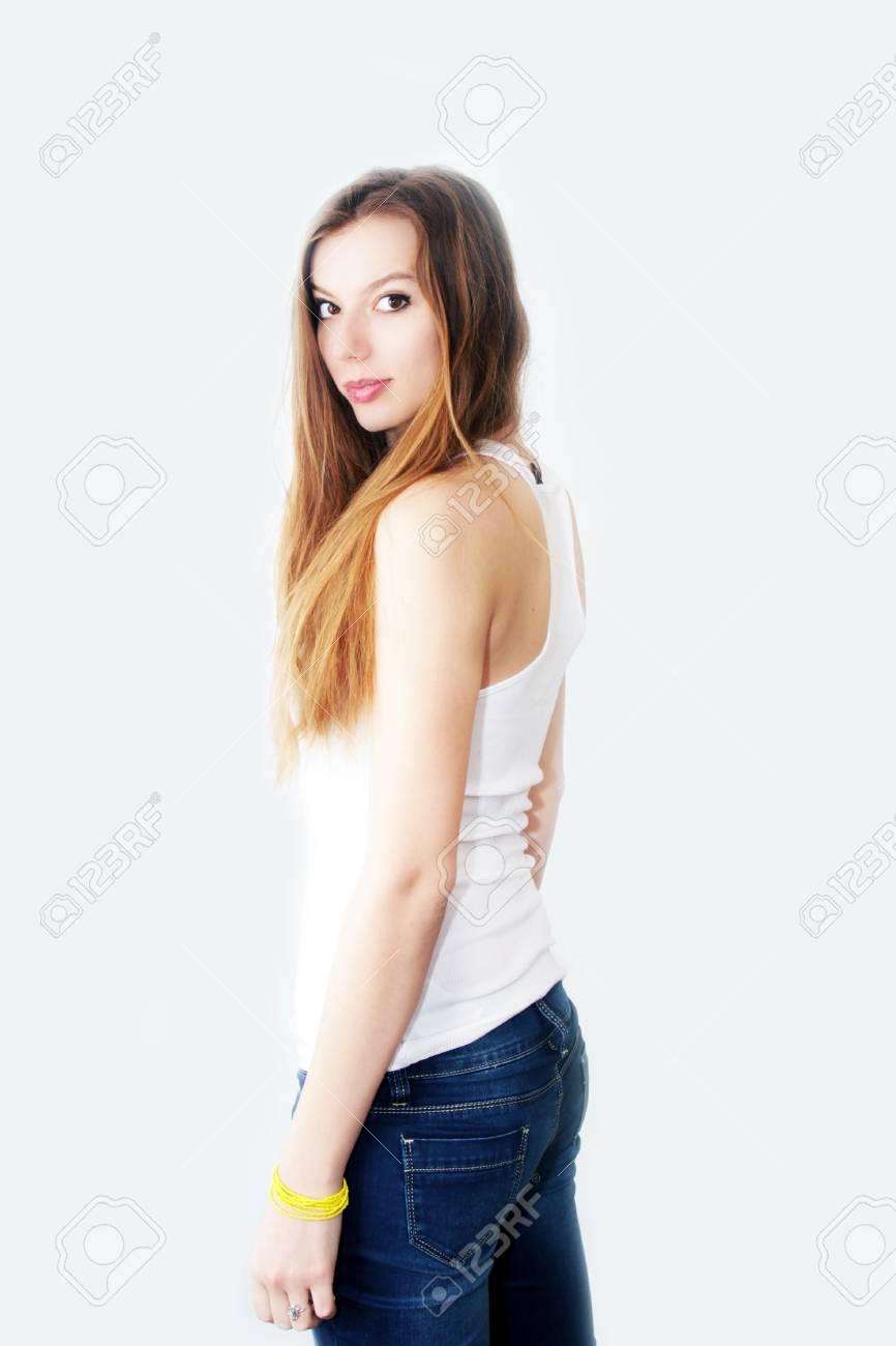 abstract scene portrait beautiful redheaded girl Stock Photo - 16889645