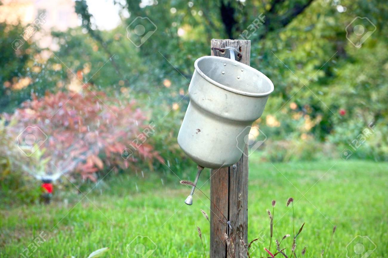 Alte Garten Waschbecken Ihre Hände Nach Der Arbeit Waschen