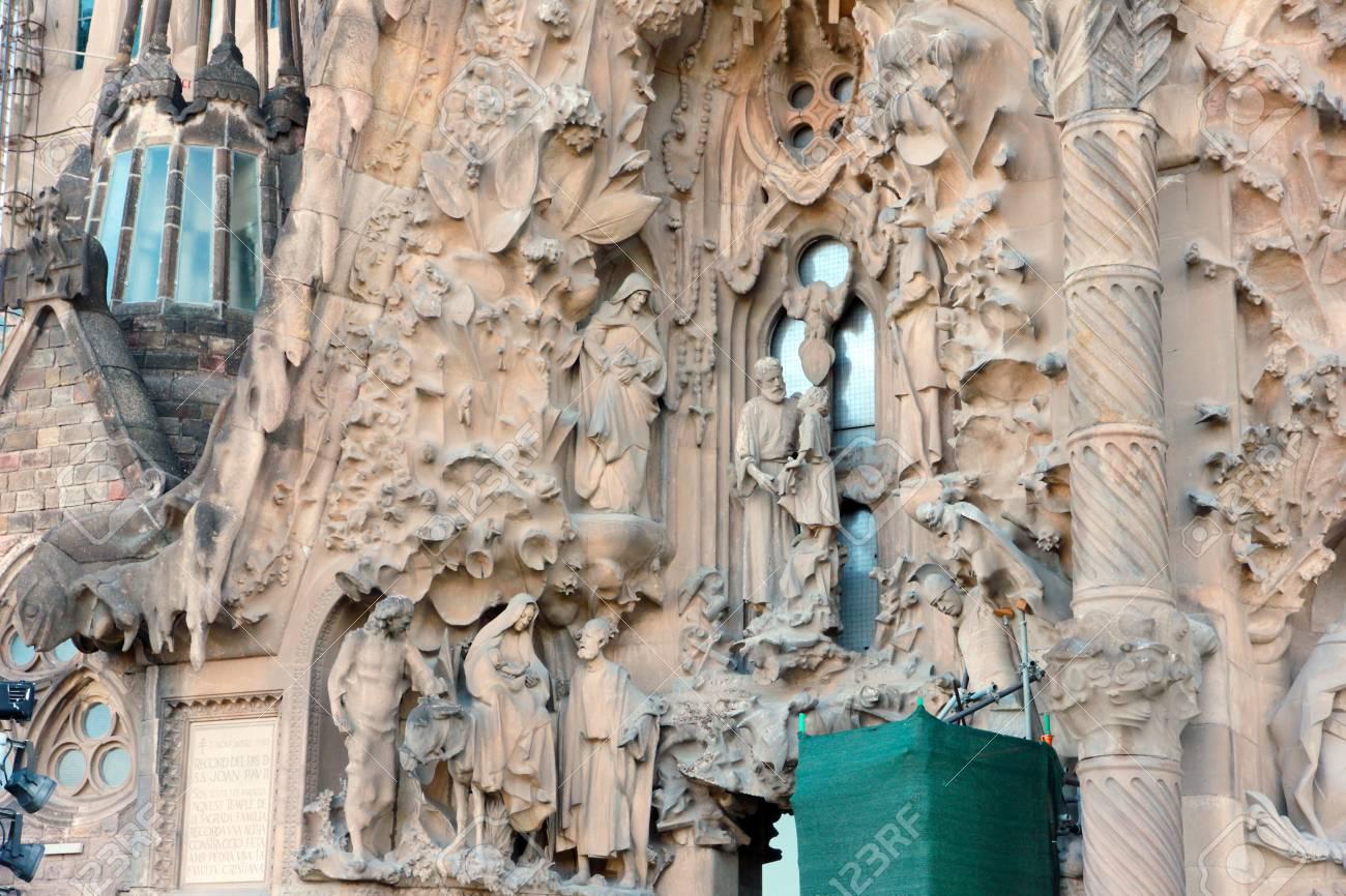 Decoracion Ornamental De Muros Exteriores Sagrada Familia Espana - Muros-exteriores