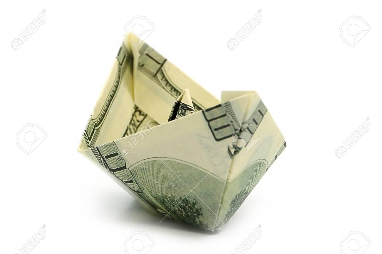 Money Sailboat | Dollar origami, Origami boat instructions, Money ... | 866x1300