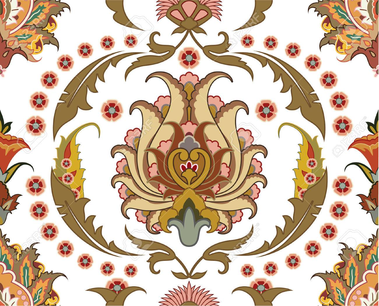 seamless ornament with east design Stock Vector - 8908845