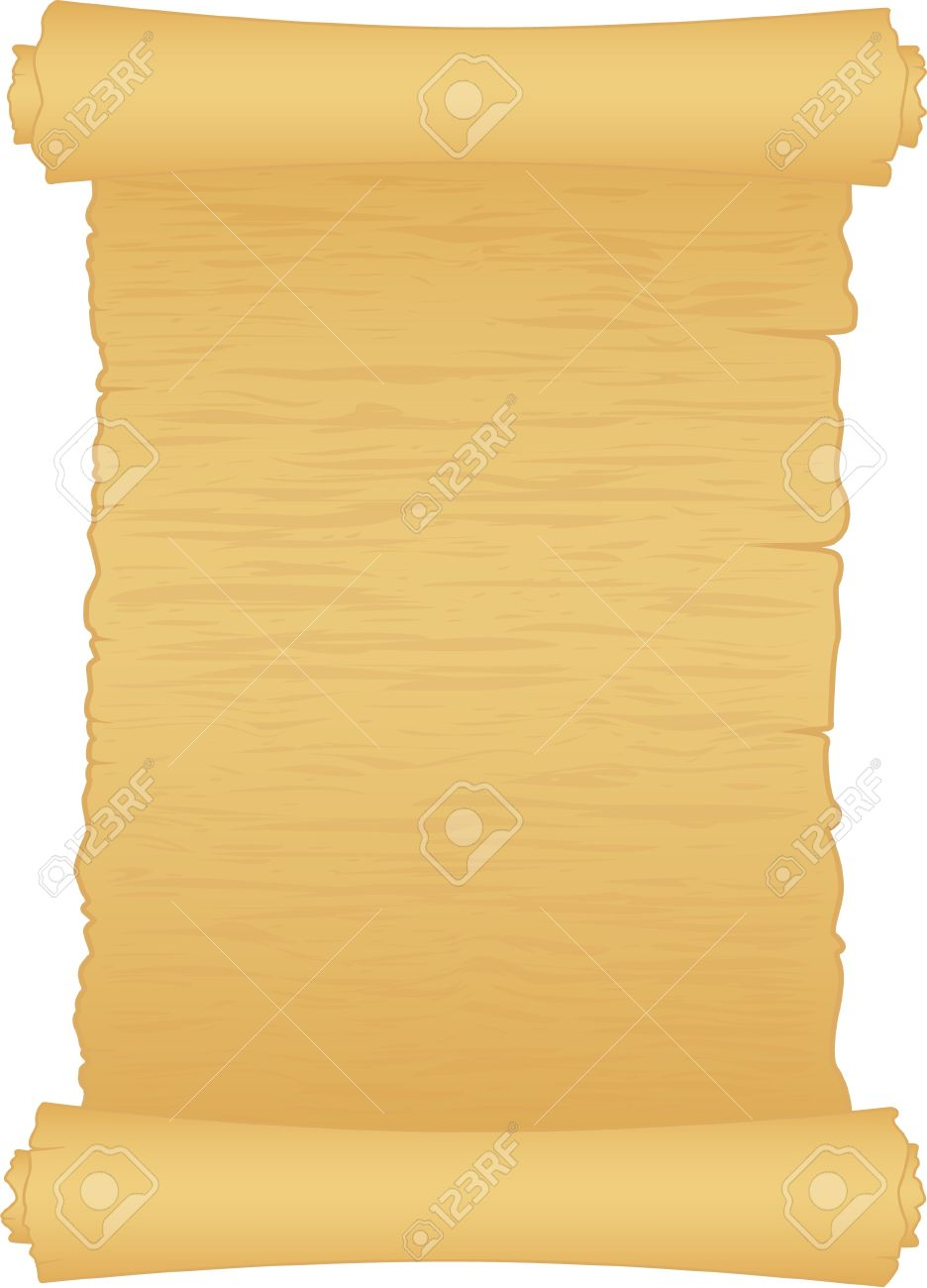 old scroll of papper isolated on white Stock Vector - 10271426