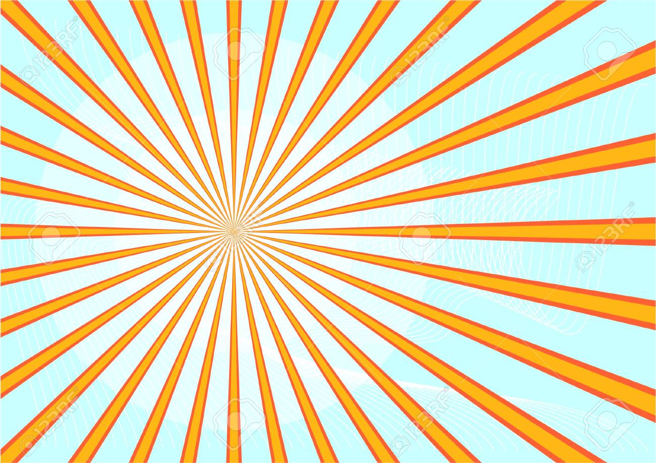sun with beams  isolated on white Stock Vector - 11998213