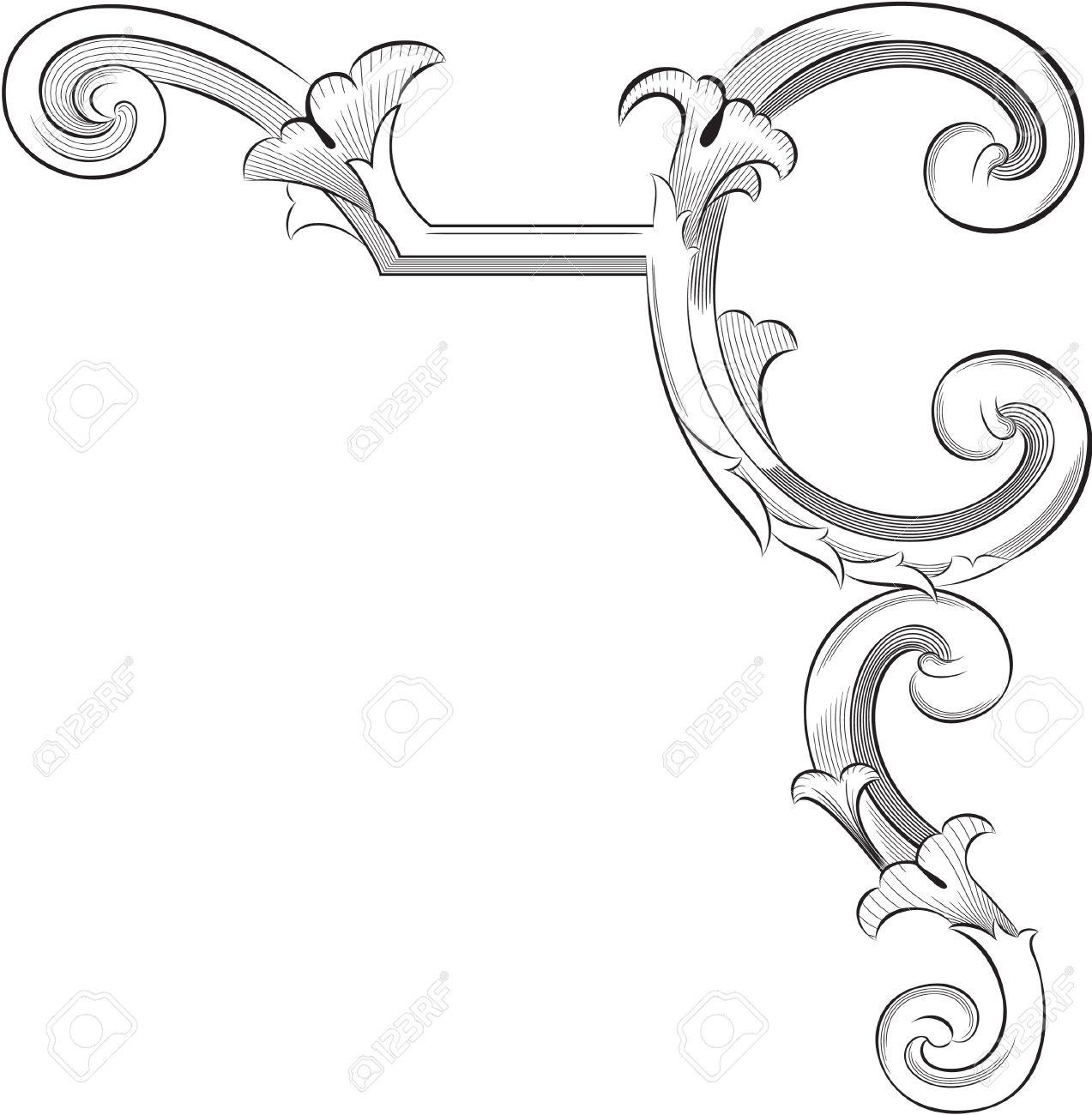acanthus : Engraving pattern