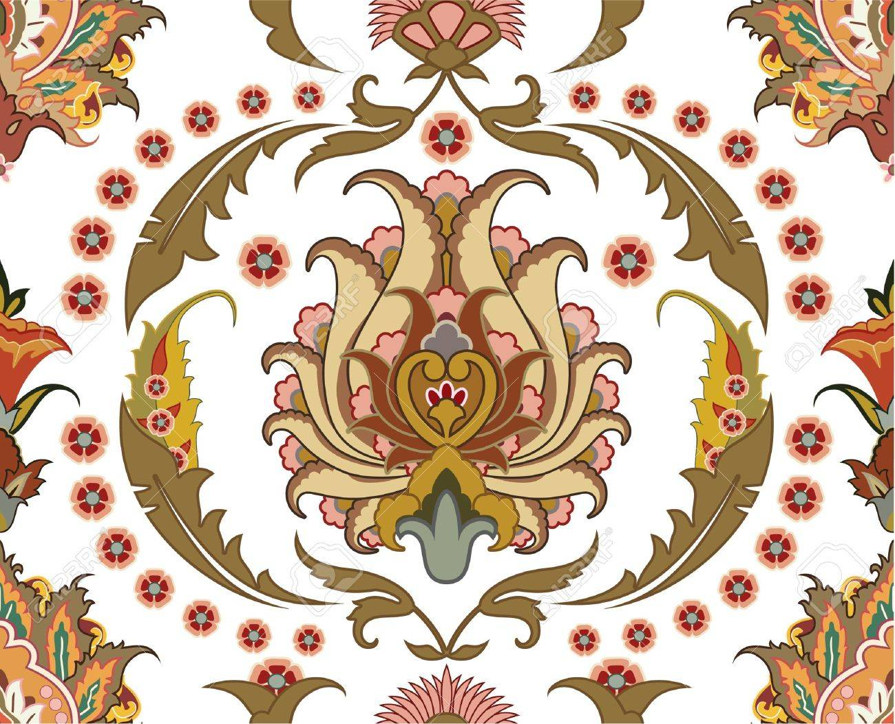 seamless ornament with east design Stock Vector - 11998298