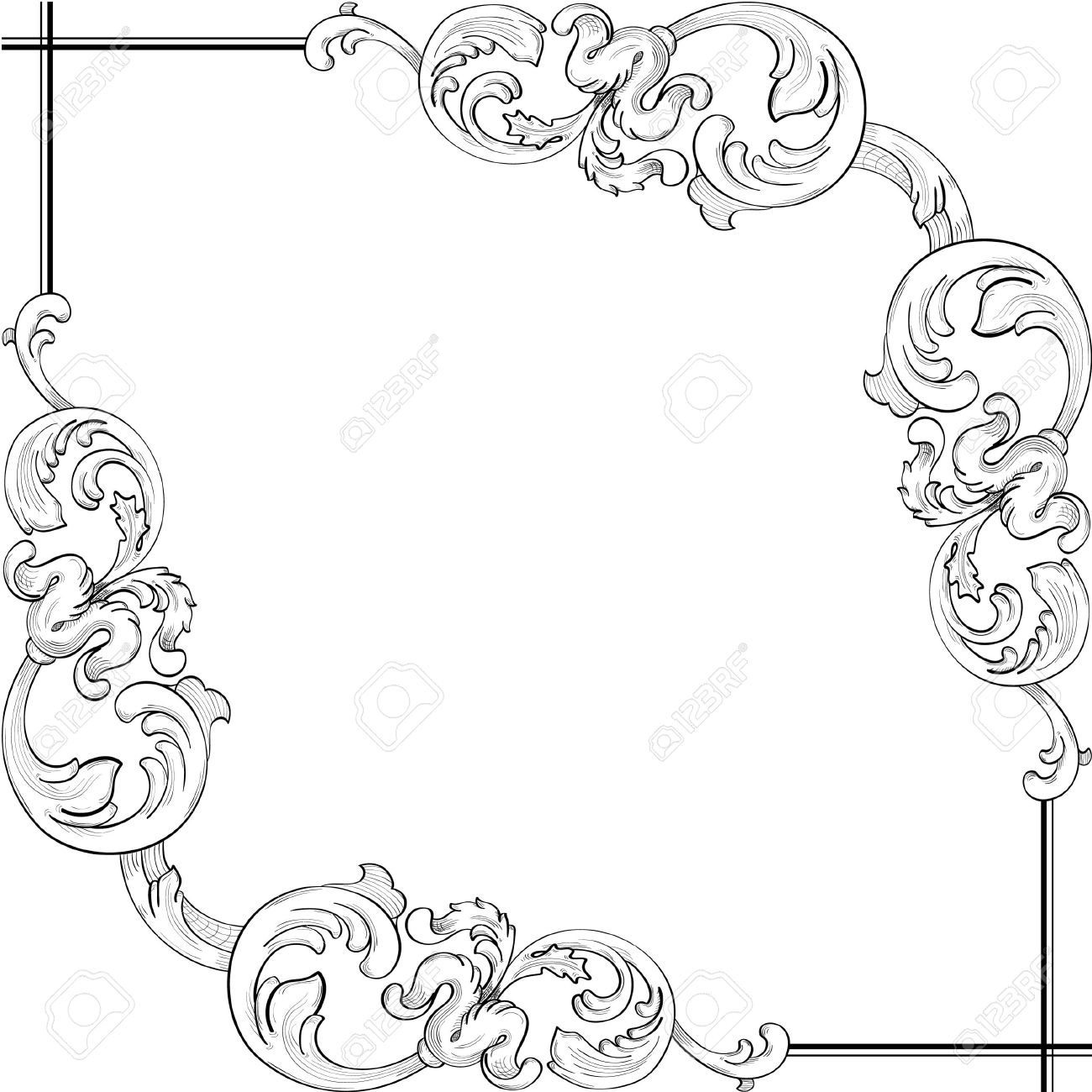 Perfect ornate corner Stock Vector - 12481637