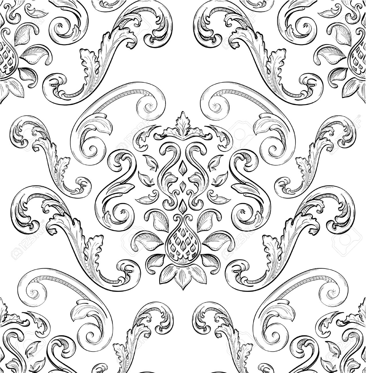 Seamless pattern with nice East ornament Stock Vector - 12481755
