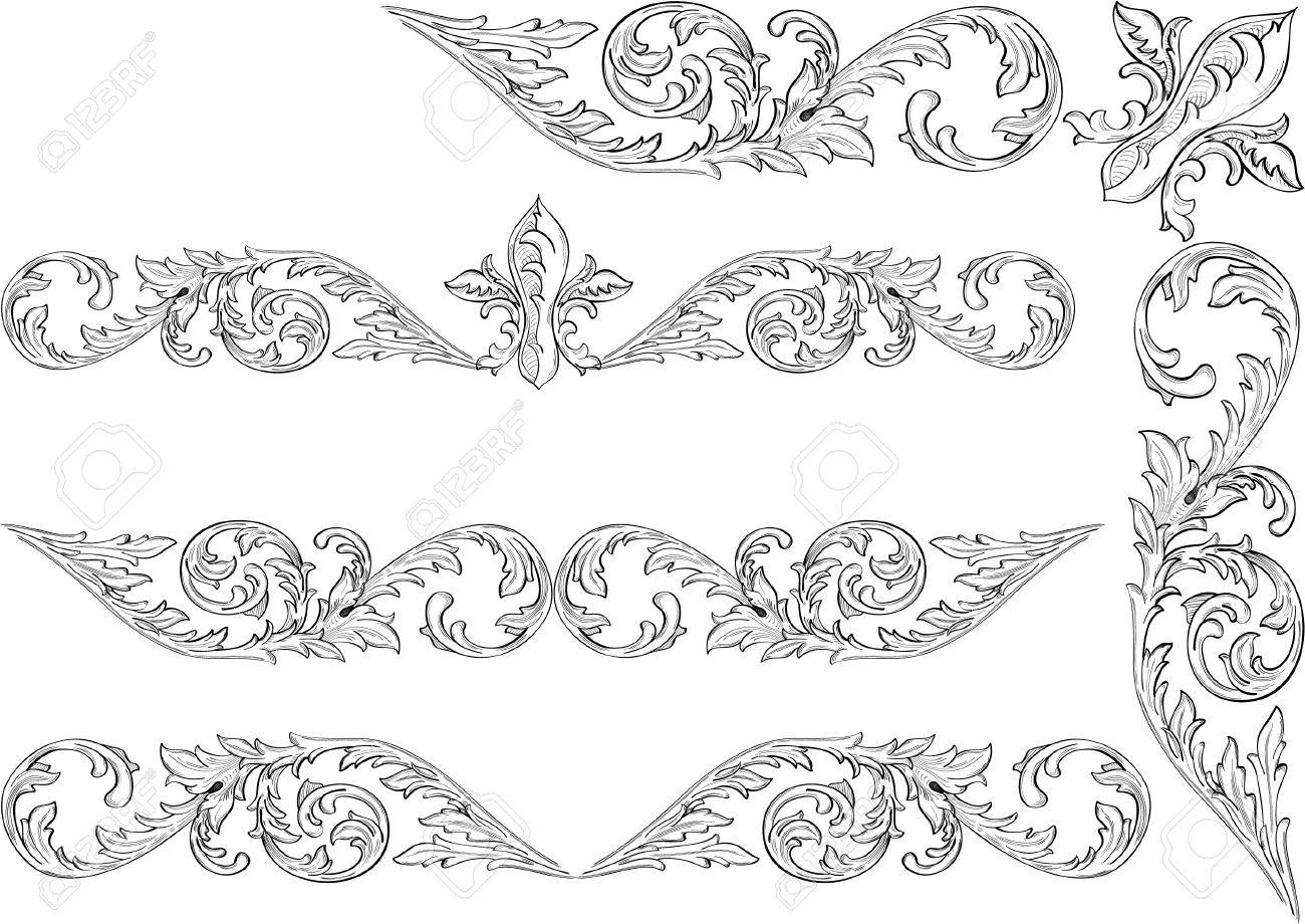 Baroque frame can use for postcards Stock Vector - 14335843
