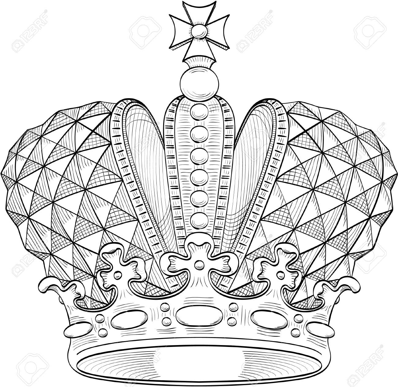 Great crown for heraldy design Stock Vector - 14335816