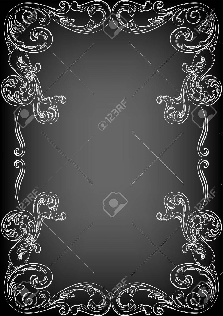 Perfect corner on black Stock Vector - 14335824
