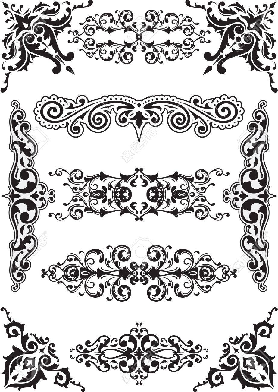 Corner and dividers set on white Stock Vector - 14335789