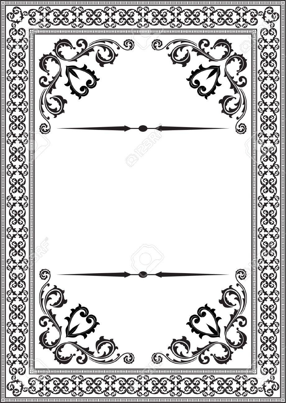 Baroque Nice Frame On White Royalty Free Cliparts, Vectors, And ...