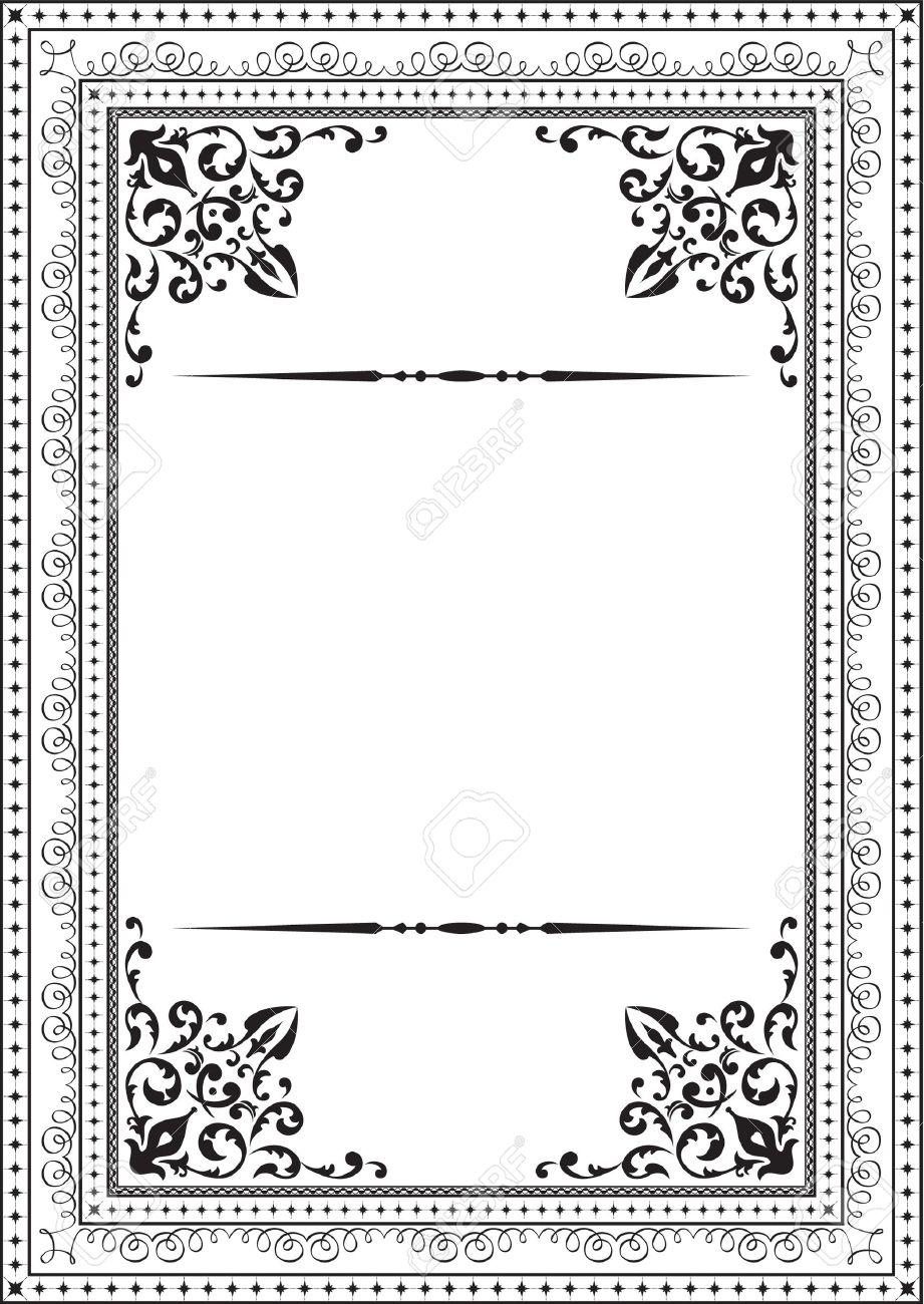 Classic vintage frame on white Stock Vector - 14335825
