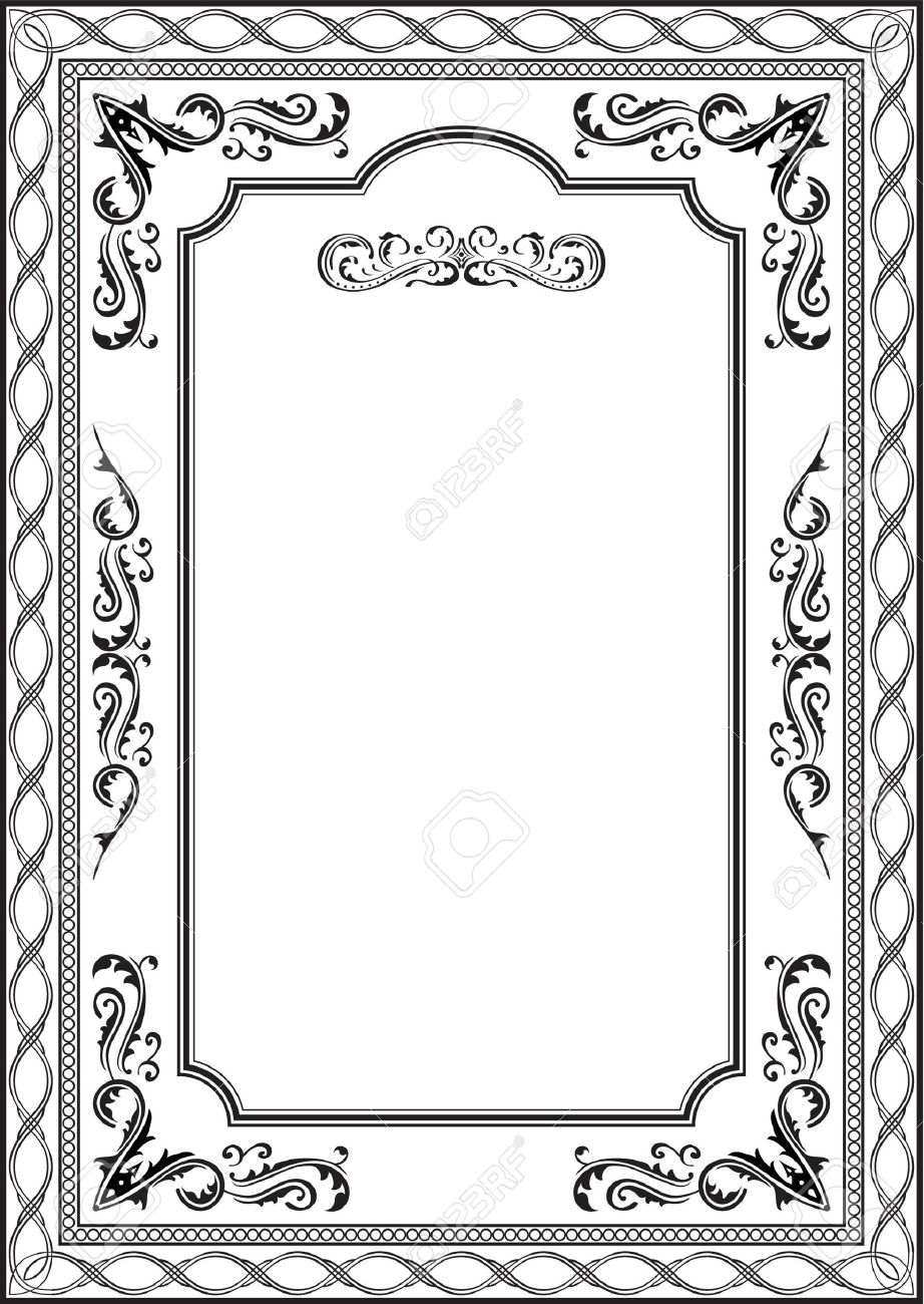 Exellent vintage frame on white Stock Vector - 14335811