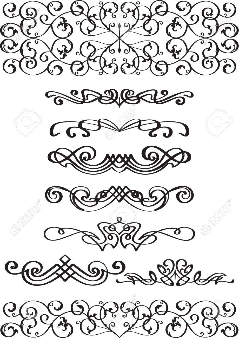 Lovely dividers set isolated on white Stock Vector - 14335770
