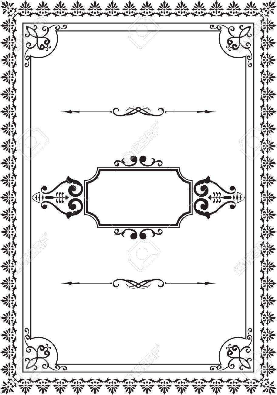 Nice old frame on white Stock Vector - 14335791