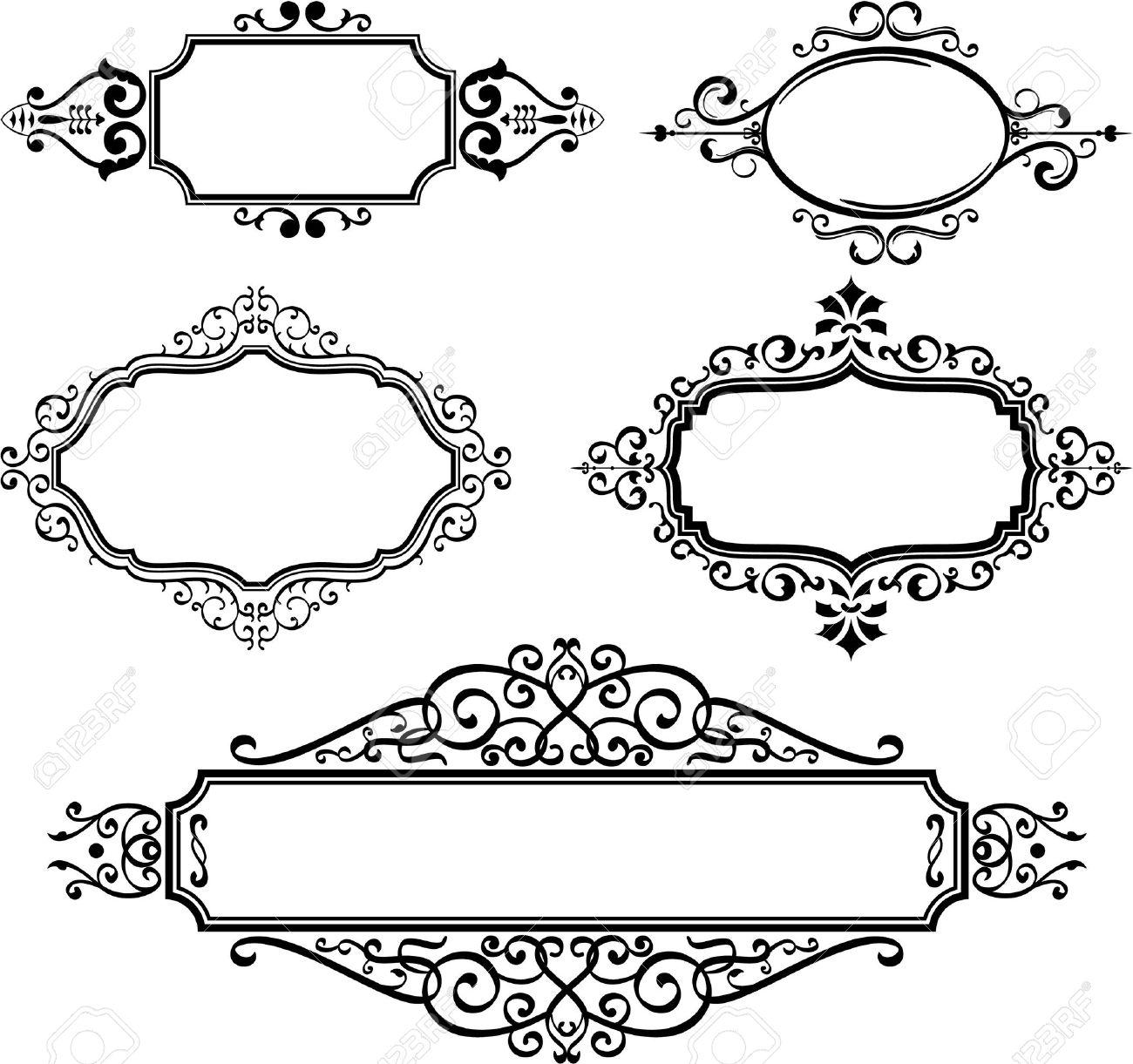 Ornate borders on white Stock Vector - 14335768