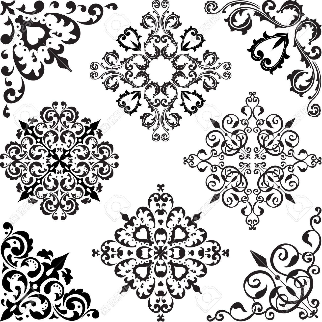 Arabesque set isolated on white Stock Vector - 14335793
