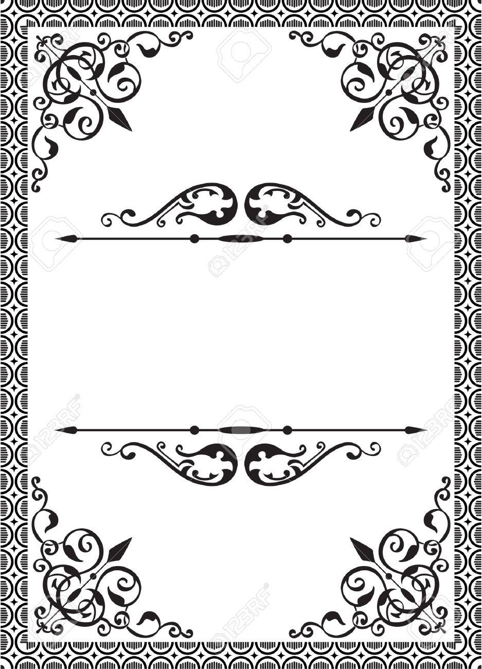 Classic frame on white Stock Vector - 14335792