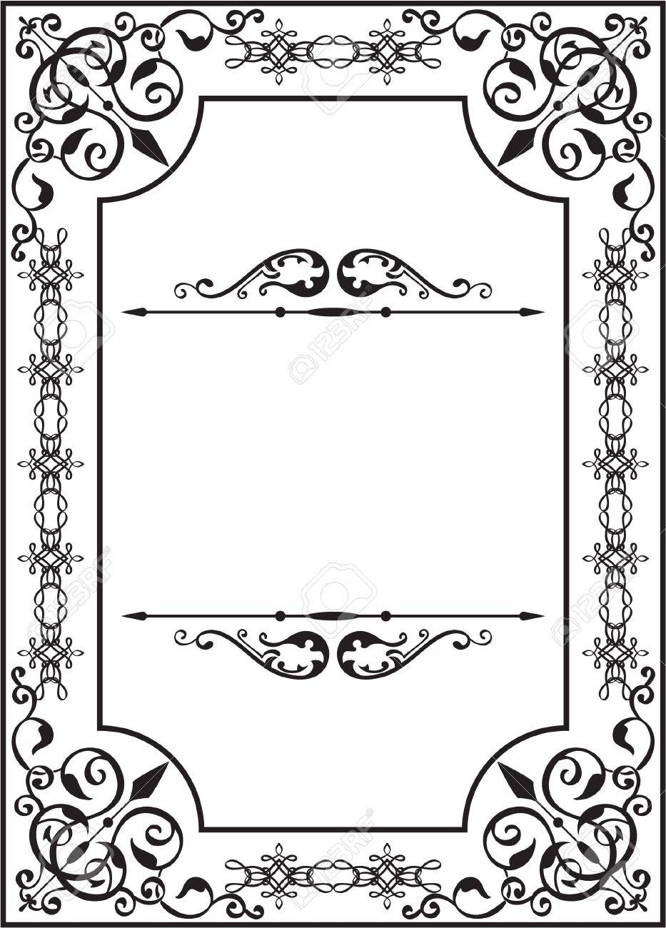 Perfect card in classic style Stock Vector - 14335776