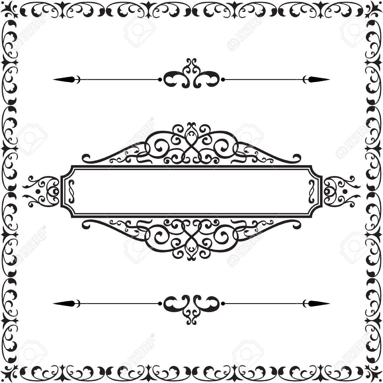 Good lloking border isolated on white Stock Vector - 19109603