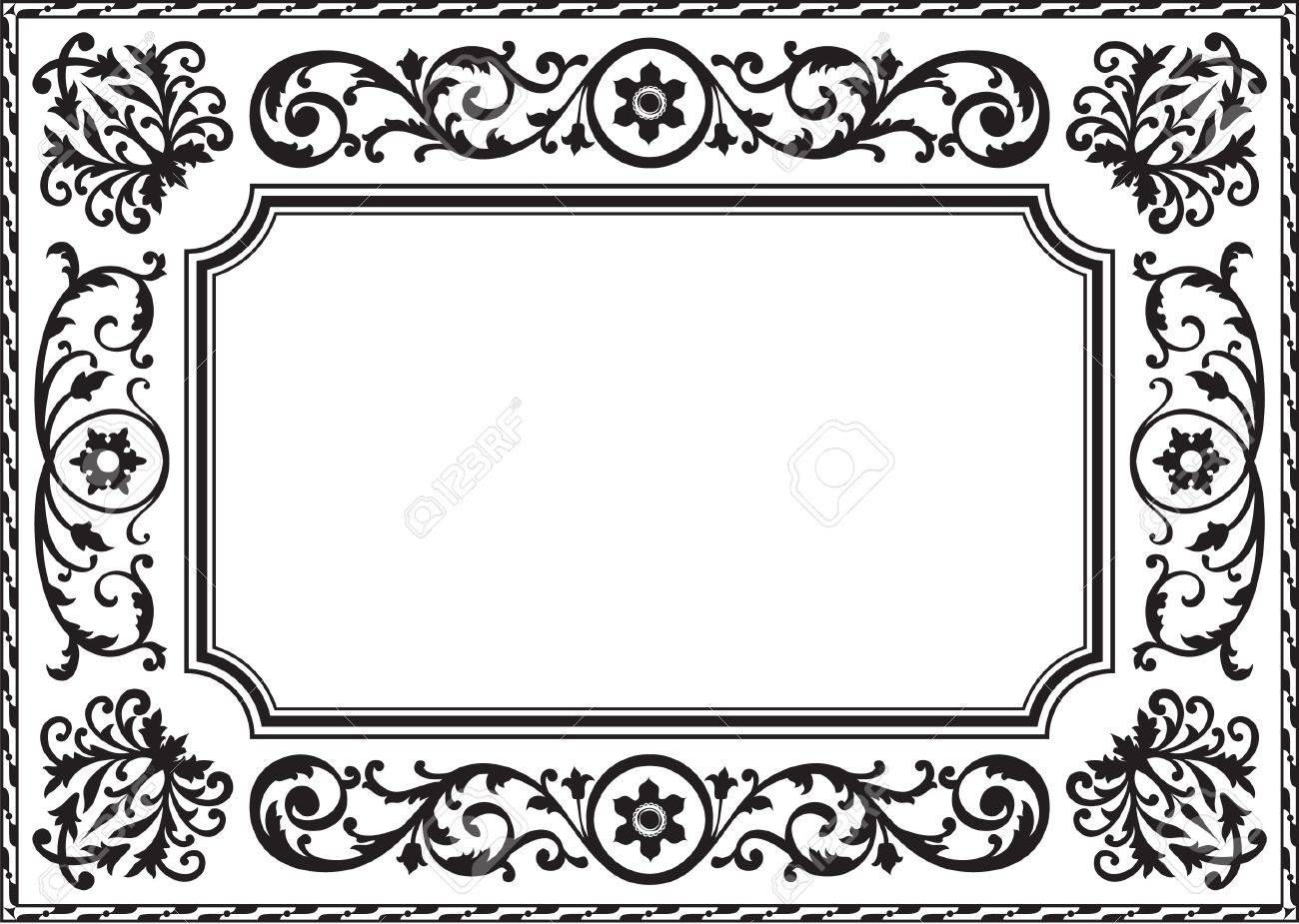 Baroque Frame Black And White Stock Photo, Picture And Royalty Free ...