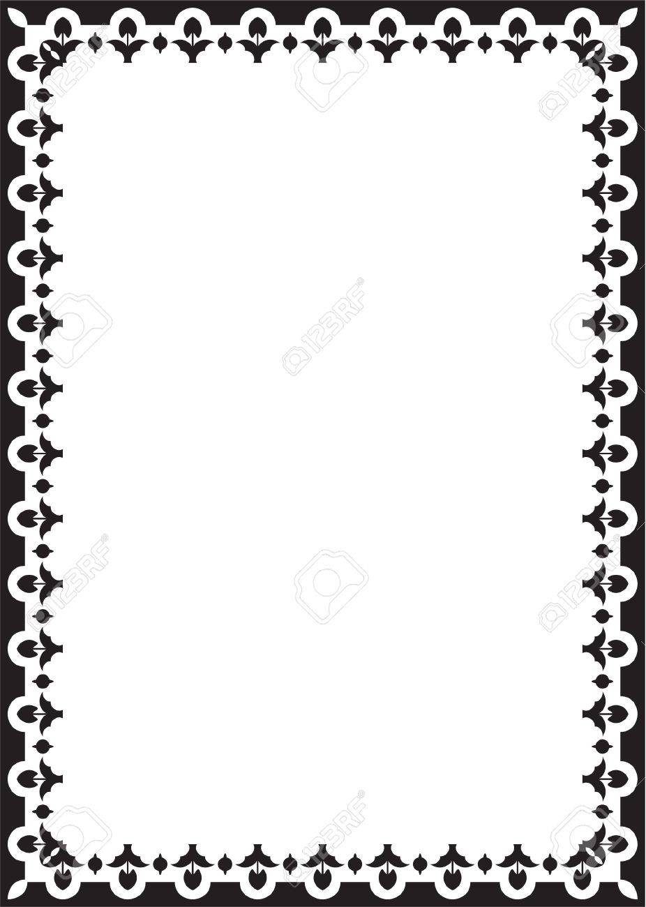 Baroque Book Frame Isolated On White Royalty Free Cliparts, Vectors ...