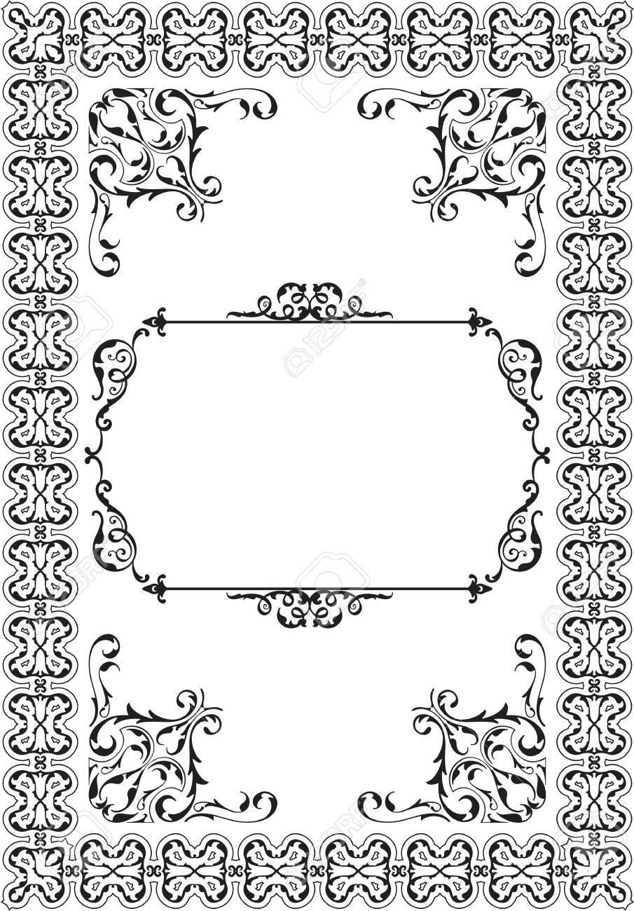 Barocke Ornament Verzierten Rahmen Auf Weißem Lizenzfrei Nutzbare ...