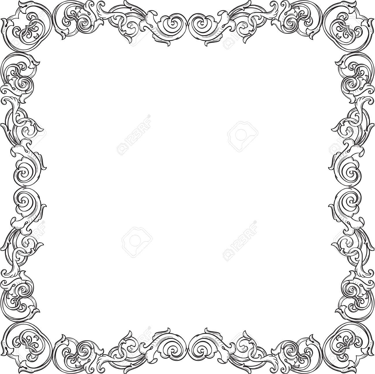 Großzügig Weiß Verzierter Bilderrahmen Galerie - Benutzerdefinierte ...