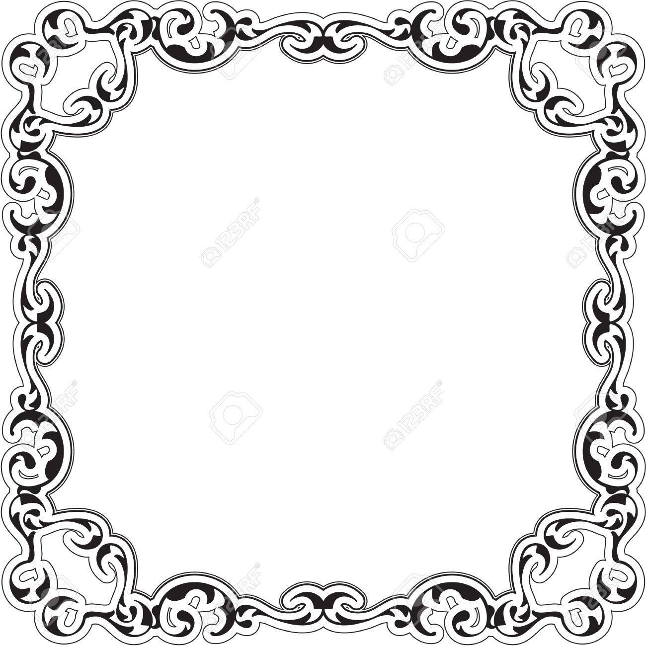 Kunst Verzierten Renaissance-Rahmen Auf Weißem Isolatred Lizenzfrei ...